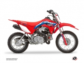 Honda 110F CRF Dirt Bike Works Graphic Kit Blue