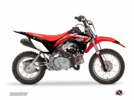 Honda 110F CRF Dirt Bike Works Graphic Kit Black