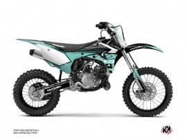 Kawasaki 85 KX Dirt Bike Claw Graphic Kit Turquoise