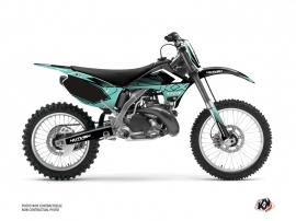 Kawasaki 125 KX Dirt Bike Claw Graphic Kit Turquoise
