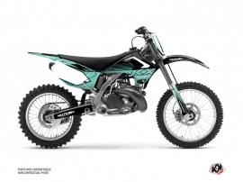 Kawasaki 250 KX Dirt Bike Claw Graphic Kit Turquoise