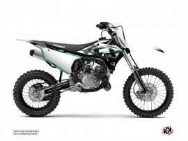 Kawasaki 85 KX Dirt Bike Live Graphic Kit Turquoise