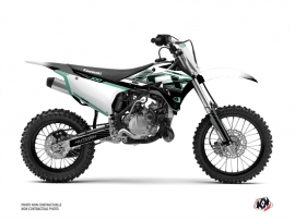 Kawasaki 100 KX Dirt Bike Live Graphic Kit Turquoise
