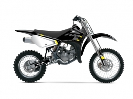Suzuki 85 RM Dirt Bike Label Graphic Kit Grey