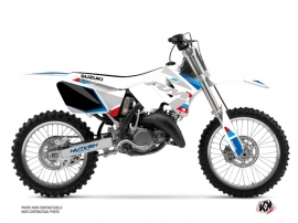 Suzuki 125 RM Dirt Bike Label Graphic Kit White