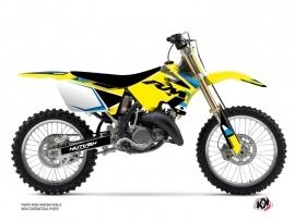 Suzuki 250 RM Dirt Bike Label Graphic Kit Blue