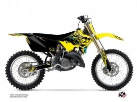 Suzuki 250 RM Dirt Bike Zero Graphic Kit Yellow
