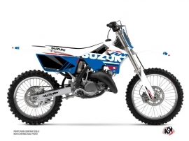 Suzuki 125 RM Dirt Bike Grade Graphic Kit White