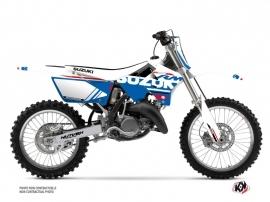 Suzuki 250 RM Dirt Bike Grade Graphic Kit White