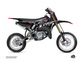 Yamaha 65 YZ Dirt Bike Skew Graphic Kit Pink