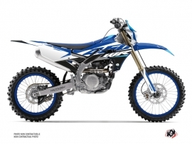 Yamaha 450 WRF Dirt Bike Skew Graphic Kit Blue