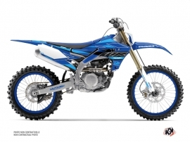 Yamaha 450 WRF Dirt Bike Outline Graphic Kit Cyan