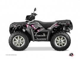 Polaris 850 Sportsman Forest ATV Vintage Graphic Kit Black Pink