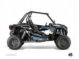 Polaris RZR 1000 Turbo UTV Abstract Graphic Kit Blue Yellow