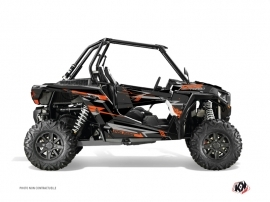 Polaris RZR 1000 Turbo UTV Abstract Graphic Kit Grey Orange