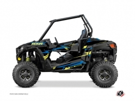 Polaris RZR 900 S UTV Abstract Graphic Kit Blue Yellow