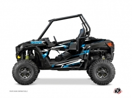 Polaris RZR 900 S UTV Abstract Graphic Kit Black Blue