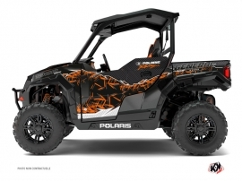 Polaris GENERAL 1000 UTV Action Graphic Kit Orange
