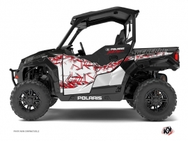 Polaris GENERAL 1000 UTV Action Graphic Kit Red White
