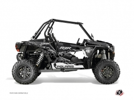 Polaris RZR 1000 Turbo UTV Action Graphic Kit Black Grey