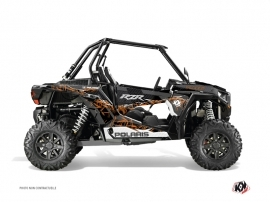 Polaris RZR 1000 Turbo UTV Action Graphic Kit Orange
