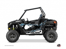Polaris RZR 900 S UTV Action Graphic Kit Black Blue