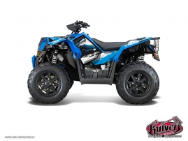 Polaris Scrambler 850-1000 XP ATV Action Graphic Kit Blue FULL