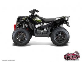 Polaris Scrambler 850-1000 XP ATV Action Graphic Kit Green FULL