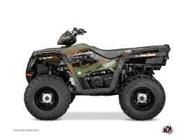 Polaris 570 Sportsman Forest ATV Action Graphic Kit Green