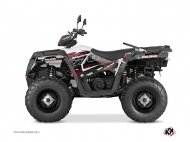 Polaris 570 Sportsman Touring ATV Action Graphic Kit Red