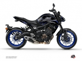 Yamaha MT 09 Street Bike Airline Graphic Kit Black Blue