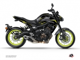 Yamaha MT 09 Street Bike Airline Graphic Kit Black Yellow