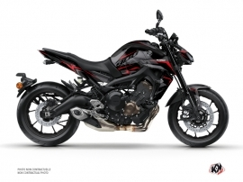 Yamaha MT 09 Street Bike Airline Graphic Kit Black Red