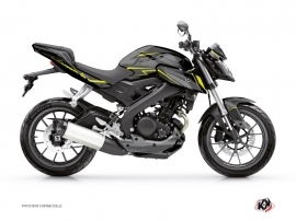 Yamaha MT 125 Street Bike Airline Graphic Kit Black Yellow