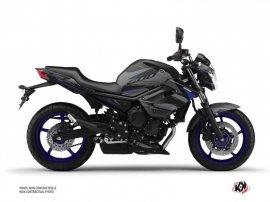 Yamaha XJ6 Street Bike Airline Graphic Kit Black Blue