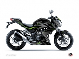 Kawasaki Z 300 Street Bike Airline Graphic Kit Black Green