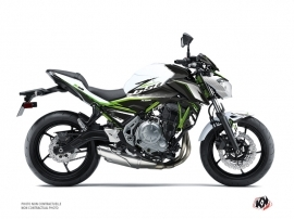 Kawasaki Z 650 Street Bike Airline Graphic Kit White Green