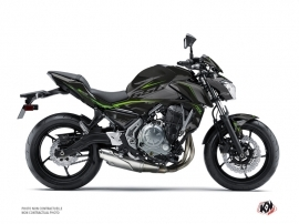 Kawasaki Z 650 Street Bike Airline Graphic Kit Black Green
