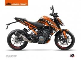 KTM Duke 390 Street Bike Arkade Graphic Kit Black Orange
