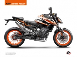 Kit Déco Moto Arkade KTM Duke 790 Orange Blanc