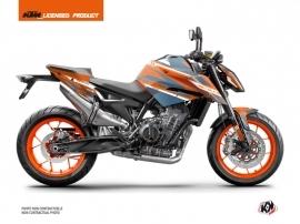 Kit Déco Moto Arkade KTM Duke 790 Orange Bleu