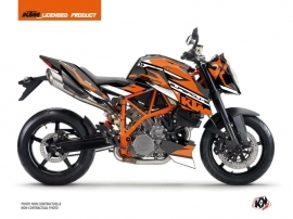 KTM Super Duke 990 R Street Bike Arkade Graphic Kit Black Orange