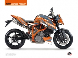 KTM Super Duke 990 R Street Bike Arkade Graphic Kit Orange Blue