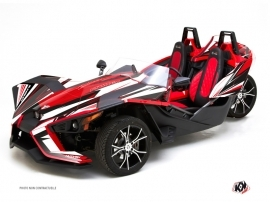 Polaris Slingshot Roadster Atomik Graphic Kit Red White