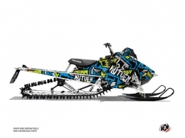 Polaris Axys Snowmobile Aztek Graphic Kit Blue Green