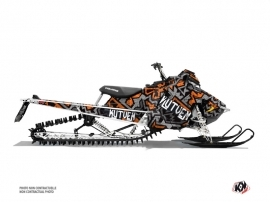 Polaris Axys Snowmobile Aztek Graphic Kit Grey Orange