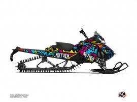 Skidoo REV XM Snowmobile Aztek Graphic Kit Blue Pink