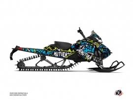 Skidoo REV XM Snowmobile Aztek Graphic Kit Blue Green