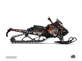 Skidoo REV XM Snowmobile Aztek Graphic Kit Grey Orange