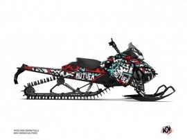 Skidoo REV XM Snowmobile Aztek Graphic Kit Red Blue